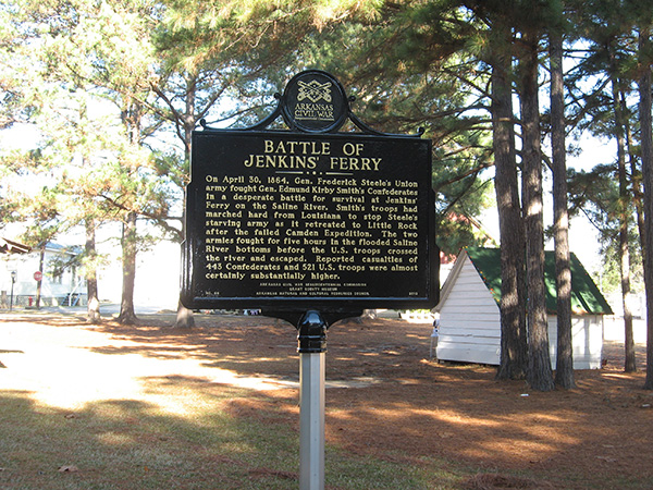 Grant County Museum Battle of Jenkins Ferry Sign
