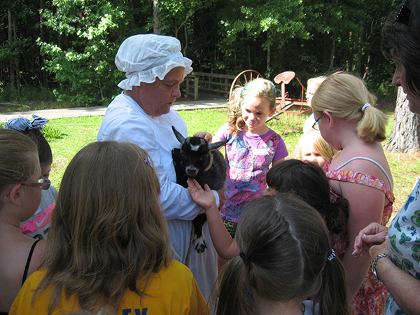 Grant County Museum - Showing off a Little Lamb