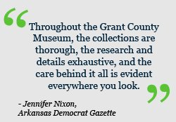 Throughout the Grant County Museum, the collections are thorough, the research and details exhaustive, and the care behind it all is evident everywhere you look.